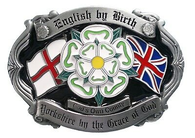 'English By Birth, Yorkshire By the Grace of God' Belt Buckle