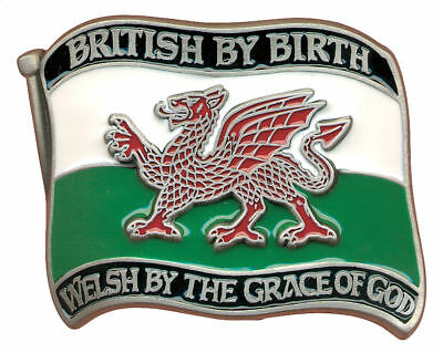 'British By Birth - Welsh By The Grace Of God' Belt Buckle