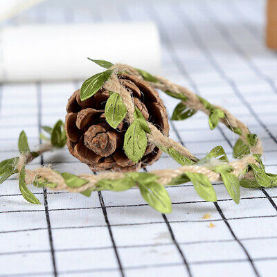 10m Leaf Natural Hessian Jute Twine Rope Burlap Ribbon DIY Craft Party Decor Apt