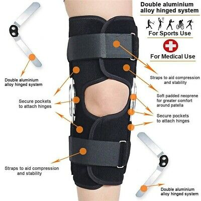 Medical Knee Metal Double-Hinged Bracket Support Brace Breathable Orthotics FAST