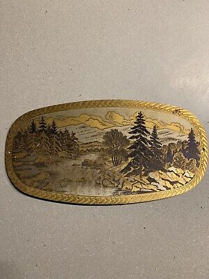 Vintage Engraved Plaque Exceptional Quality