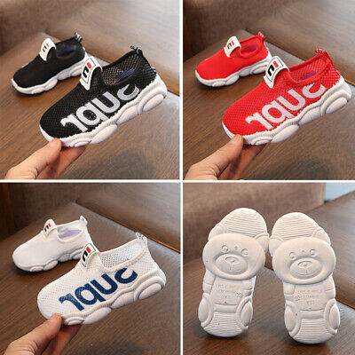 Kids Boys Girls Trainers Sports Running Walking Shoes Sneakers Baby Mesh Shoes