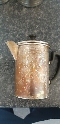 VINTAGE Art Deco SILVER PLATED 1930s MELIOR COFFEE CAFETIERE UNCLEANED