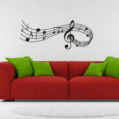 Music Notes Removable Wall Stickers Decals Vinyl Wall Room Home-Decor DIY B J6J0