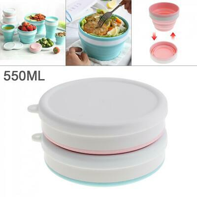 Silicone Food Lunch Box Bowl Bento Folding Collapsible Storage Containe Portable