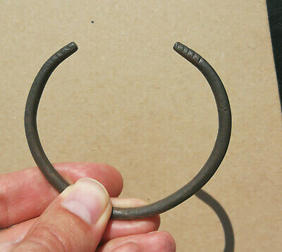 Ancient Viking bronze bracelet with ornament. REALLY RARE TYPE
