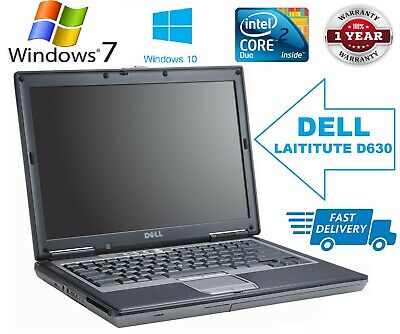 "Dell Latitude D630 14.1"" Intel Core 2 Duo 4GB RAM 500GB HD WIFI WIN7/10 Laptop"