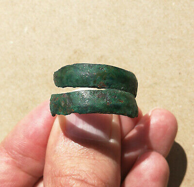 Ancient Scythian bronze spiral ring **SNAKE** C. 500 BC Green Patina