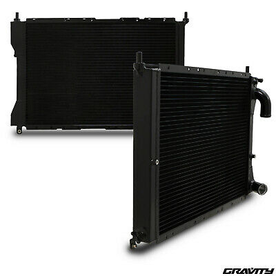 40mm BLACK ALLOY RACE SPORT RADIATOR RAD FOR FIAT COUPE 2.0 20V TURBO 93-00