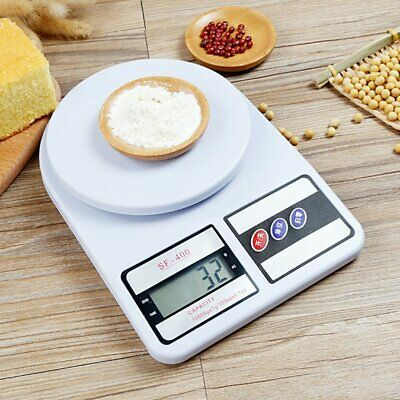 Digital Weigh Packaging Shipping Postal Scale 10kg/0.5g 22lb LCD Display White