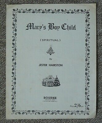 Mary's Boy Child VINTAGE PIANO SHEET MUSIC Spiritual by Jester Hairston