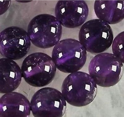 4mm Natural Russican Amethyst Round Gemstone Loose Beads 15''jjj