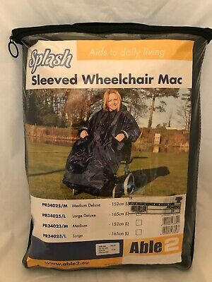 Able 2 Splash Sleeved Wheelchair Mac Lined Large Deluxe RRP £54.59
