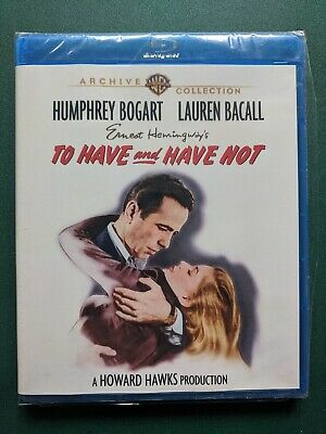 To Have and Have Not (Blu-ray) SEALED, FREE SHIP, Humphrey Bogart, Lauren Bacall