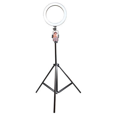 "10.5"" LED Studio Camera Selfie Ring Light w/ Phone Holder Dimmable Tripod Stand"