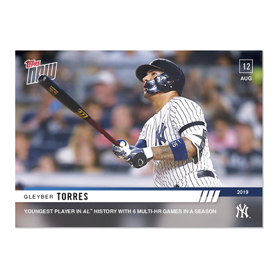 2019 Topps Now #674 Gleyber Torres Youngest To Have 6 Multi Hr Games Yankees