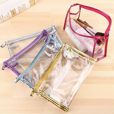 PVC Clear Cosmetic Pouch Make Up Toiletry Handbag Travel Wash Organizer Case Bag