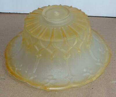 Vtg Gold Frosted Art Deco Glass Ceiling Fixture Shade Table Lamp Shade Light