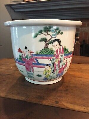 REPUBLIC PERIOD or Qing Dynasty Chinese Famille Rose planter vase