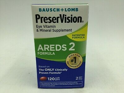 Bausch + Lomb PreserVision Areds 2 Formula 120 Softgels  EXP:09/2020+