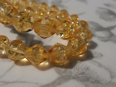 Approx 200 Beads GLB42 1 Strand x 4mm Crackle Glass Beads Dark Amber Orange