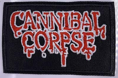 Cannibal Corpse Patch Embroidered Death Obituary Logo Metal Woven Back Patches