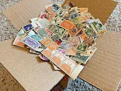 100+ COUNTRIES WW BOX OFF PAPER STAMP LOT. 1,000s OF WORLDWIDE STAMPS! #5