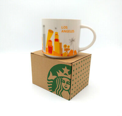 Starbucks YAH Coffee Mug Cup 14oz Los Angeles Ceramic You Are Here Collection