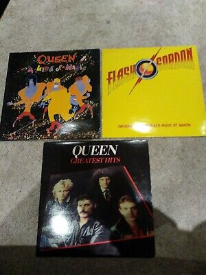 Queen - kind of magic Flash Gordon Greatest hits x 3 JOBLOT vinyl collection