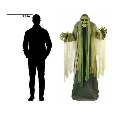 6Ft Halloween Animated Led Swamp Hag Haunted House Prop Decoration