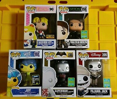 Funko Pop! Lot of 5 SDCC AND HOT TOPOC EXCLUSIVES MUST SEE!!!!!!