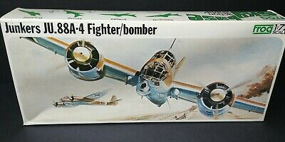 WWII Luftwaffe German Junkers JU.88A-4 Fighter/Bomber Airplane Kit 1/72 Rovex UK