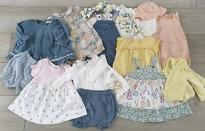 🌼 Baby Girl Bundle Outfits Rompers 0-3 Next M&S Nutmeg Excellent Some BNWOT 🍁