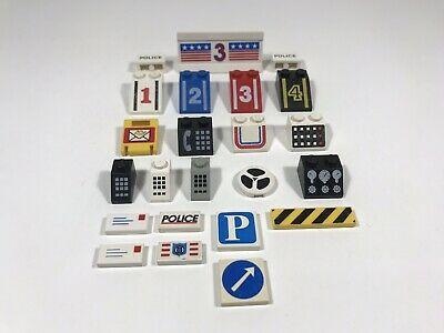 LEGO Bulk Lot Vintage Printed And Stickered Parts Classic Town City
