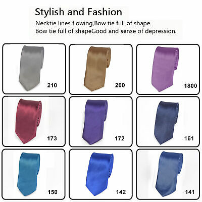 SKINNY NECK TIE Solid Casual Plain Slim Suit 2 inch Wedding Party Free Shipping