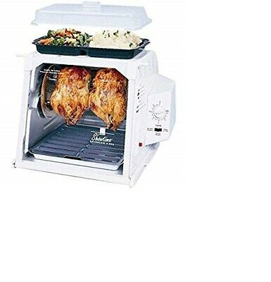 Ronco Showtime 3000 TU Rotisserie BBQ Oven Deluxe Pack White w/ Accessories NEW!