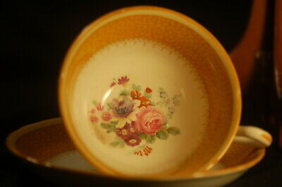 Ye Olde English Grosvenor Yellow Floral   Cup and Saucer
