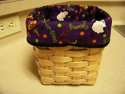 Halloween Tall Tissue Basket Liner From Longaberger Halloween Party Fabric