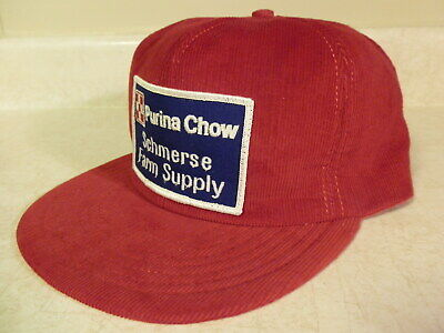 Vintage Purina Chow Farm Trucker Patch Hat Snapback Cap Louisville MFG USA Made