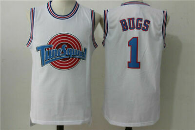 Space Jam Jersey #1 Bugs Bunny Tune Squad Basketball Jerseys Movie Throwback