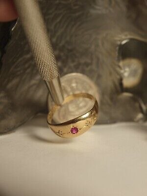 Genuine / Solid 18Ct Yellow Gold Ladies Natural Ruby & Diamond Dress Ring