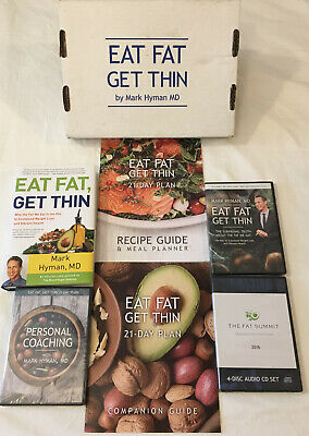 Eat Fat Get Thin Kit Mark Hyman 2 DVDs 4 Audio CDs 21-Day Plan Recipes Book NEW