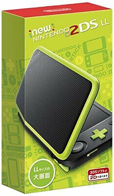 NEW Nintendo 2DS LL Black Lime Game Console