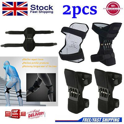 2PCS Powerful Leg Knee Pads Power Lift Joint Support Knee Pads Spring Force / UK