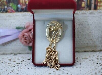Vintage Jewellery retro brooch antique gold color jewelry