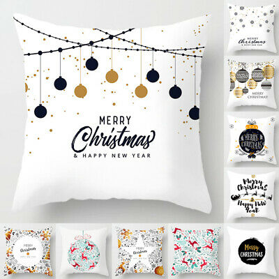 18'' Protectors Throw Christmas Cushion Cover Pillow Case Home Merry Christmas