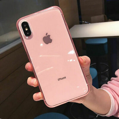 Clear Shockproof Bumper Silicone Soft Case Cover For iPhone XS Max XR 6 7 8 Plus