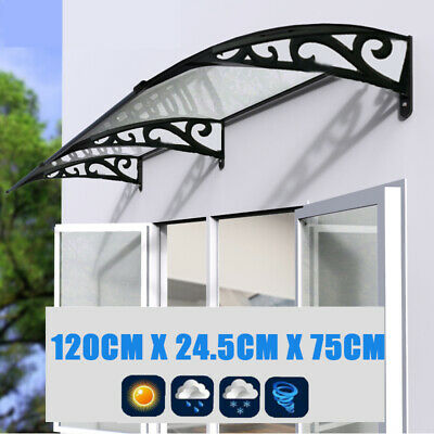 BLACK+WHITE Door Window Canopy Awning Porch Front Shelter Patio Sun Rain Cover