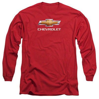 CHEVY BOWTIE STACKED Licensed Men's Long Sleeve Graphic Tee Shirt SM-3XL
