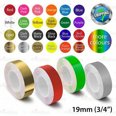 """19mm 3/4"""" PinStriping Pin Stripe Tape Car DIY Styling Line Decal Vinyl Stickers"""